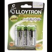 Lloytron Accuultra Rechargable Batteries C 2s (B016)