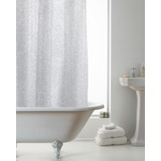 Glitter Design Shower Curtain With Rings (BAC181368)