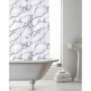 Marble Design Shower Curtain With Rings (BAC197536)