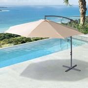Barbados Cantilever Parasol - 3m Round - Beige
