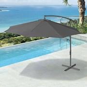 Barbados Cantilever Parasol - 3m Round - Grey