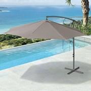 Barbados Cantilever Parasol - 3m Round - Taupe