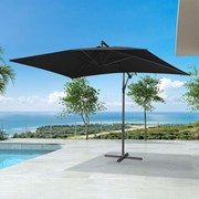 Barbados Cantilever Parasol - 3m x 2m Rectangular - Black
