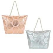 Ks Canvas Bag With Foil Circles Asstd (BB1112)