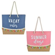 Ks Canvas Bag With Slogan Print (BB1122)
