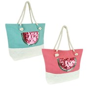Ks Canvas /straw Panel Bag (BB1124)
