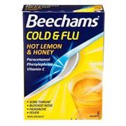 Beechams Cold & Flu Hot Lemon 5s (GSK006452)