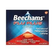 Beechams Flu Plus Caplets 6/5  * 16s (GSK061784)
