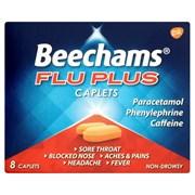 Beechams Flu Plus Caplets 8s (GSK086930)