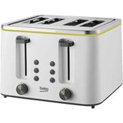 Beko New Line 4 Slice Toaster (TAM4341W)