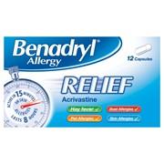 Benadryl Allergy Relief 12s (75462)