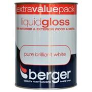 Berger Liquid Gloss Brilliant White 1.25lt (5026126)