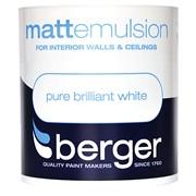 Berger Matt Emulsion Brilliant White 1lt (5020264)