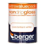 Berger Non Drip Gloss Brilliant White 1.25lt (5026204)
