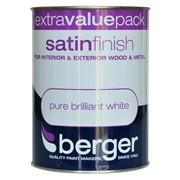 Berger Satin Brilliant White Gloss 1.25lt (5026262)