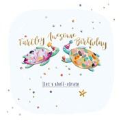 Birthday Turtle B/day Card (SFER0039)