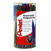Retract Ball Pen Tub Asst Colours 30s (BK417/TUB/30)