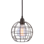 Premier Black Spherical Cage Light Shade (BL161359)