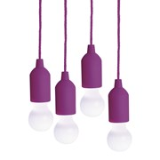 Premier Garden Purple Led Pull Lights 4 Pack (BL171549PU)