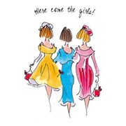 Blank Card Here Come The Girls (TG39129)