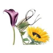 Blank Card Sunflower Shoe (BS77420)