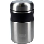 Built Food Jar Silver Black 490ml (BLTJAR490SIL)