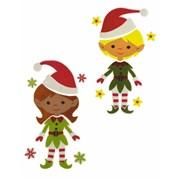 Boy Girl Elf Gel Clings (AC185658)