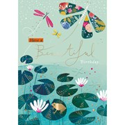 Butterfly Wishes B/day Card (IJ0075W)