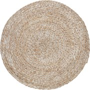 Creative Tops Ct Naturals Round Woven Bulrush Mat White (C000352)