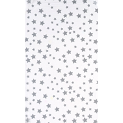 Printed Tissue Stars Silver 5 Sheet (C181)