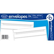 White Self Seal Envelope Dl 50s (C503)