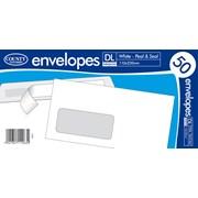 White Peel & Seal Envelope Dl Windows 50s (C505)