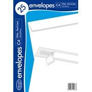 White Peel & Seal Envelope C4 25s (C509)