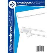 White Peel & Seal Envelope C5 25s (C513)