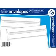 White Self Seal Envelope C6 50s (C515)