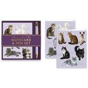 Cats Notecard & Pen Set (RFS13296)