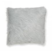 Catherine Lansfield Metallic Fur Cushion Silver 45cm