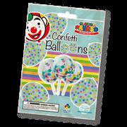 Pre-loaded Coloured Confetti Balloons 6s (CB01)