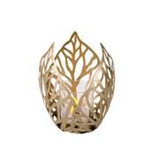 Gold Metal Candle Holder Leaf Design (CH182001)