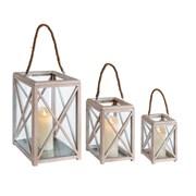 Distressed Lanterns Set Of 3 (CH183081)