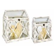 Setx2 Wooden Lanterns (CH191061)