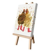 Chit Chat In Boots Canvas Cutie 15x20 (CCTE124)