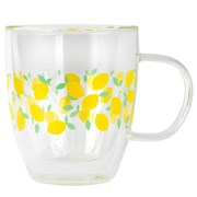 Cambridge Ditsy Lemons Glass Mug 300ml (CM07249)