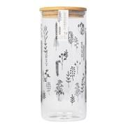 Doodle Plant Glass Jar 1200ml (CM07283)
