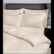 Satin Stripe Duvet Set Cream King (SS KQS/CR 36570)
