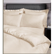 Satin Stripe Duvet Set Cream Single (SS SQS/CR 36570)