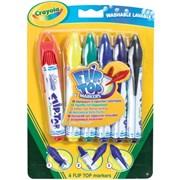 Crayola 6 Flip Top Markers (833200)