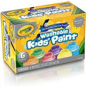 Crayola 6 Washable Metallic Paints (54-5000-E-000)