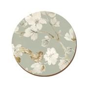Creative Tops Ct Duck Egg Floral Round Premium Coasters pk4 (516895)