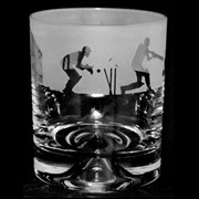 Animo Cricket Scene Whiskey Tumbler (ANT17CRICKET)